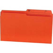 Chemises couleurs réversibles Offix® Format légal orange