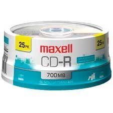 CD-R inscriptible 48x Sur axe pqt 25