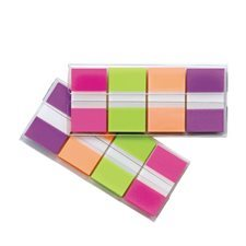 Languettes Post-it® Rose, vert, orange, violet (160 languettes)